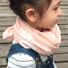 Children's autumn Winter Warm Scarf New Style Designer Kids sunflower Baby scarf cotton and flax Infinity scarves and shawls(China (Mainland))