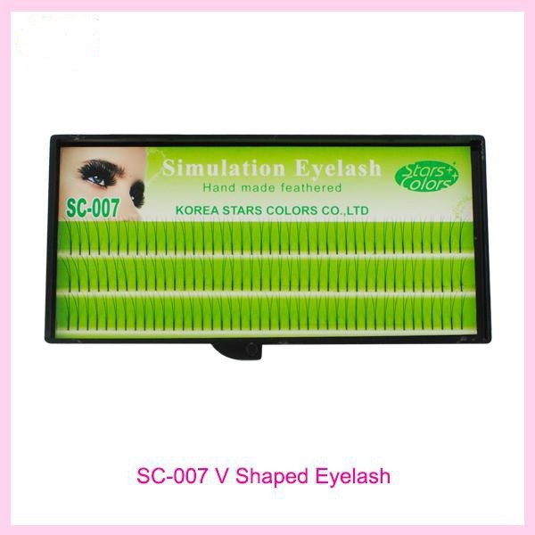 0.12mm C Curl Natural Long Individual Lashes False Eyelashes 2 in 1 Thinness Eyelash Extension(China (Mainland))