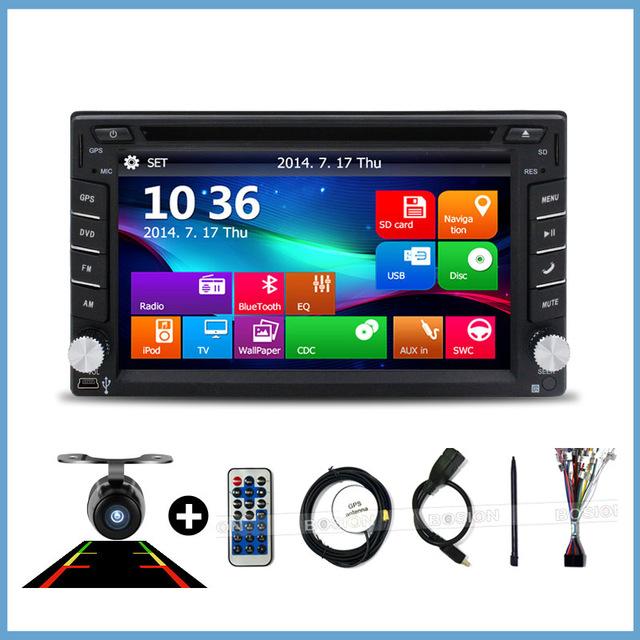 universal Car Radio Double 2 Din DVD Player GPS Navigation dash PC Stereo Head Unit video+Free Map subwoofer - Jiangsu Kaichuang Auto Parts CO.,LTD. store