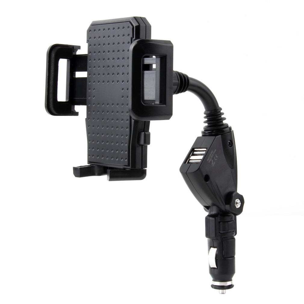 1pcs Dual USB 2-Port Car Charger New Arrival Cell Phone Mount Holder for Mobile Phones GPS Wholesale Promotion(China (Mainland))