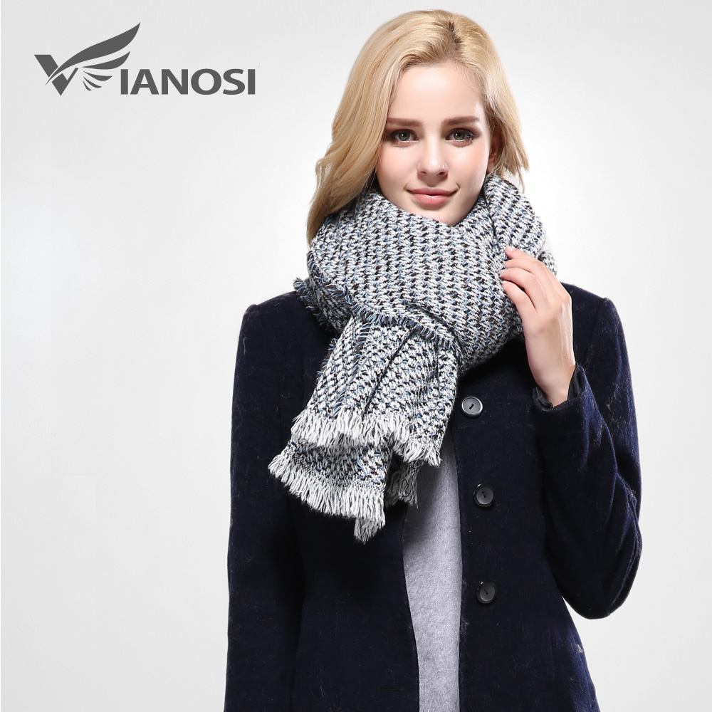 [VIANOSI] 2016 Thicken Warm Scarf Woman Fashion Tassel Winter Scarves and Stoles Dual Purpose Long Scarf Women Wrap Shawl VA086(China (Mainland))