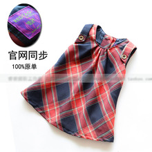 2014 new arrival spring autumn baby girl red plaid tank dress ,female children sleeveless casual dress baby clothes(China (Mainland))