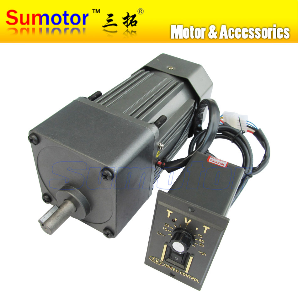200w Ac 220 240v 50 60hz Low Speed Electric Geared Reducer Motor With Speed Controller Cw Ccw
