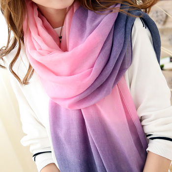 2017 New Fashion Spring Scarves Women Brand cachecol Gradient scarf Foulard Femme Designer Cotton shawls Scarf