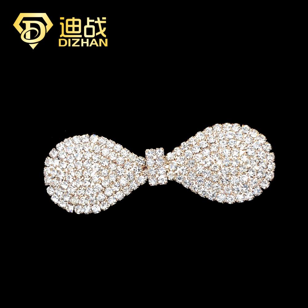 Fashion Women Girls Full Crystal Rhinestone Bowknot Barrette Hair Clip Clamp Hairpin Hair Accessories for girls gift SF562(China (Mainland))