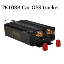 Quad Band Alarm Vehicle GPS Tracker Car GPS Positioning System with Remote Control SD Card TK103B(China (Mainland))