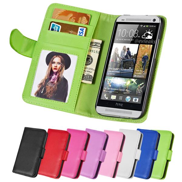 Здесь можно купить  50 pcs/lot Vintage Wallet PU Leather Case For HTC ONE M7 Flip Style Photo Frame With Stand Phone Bag 8 Colors Wholesale DHL  Телефоны и Телекоммуникации