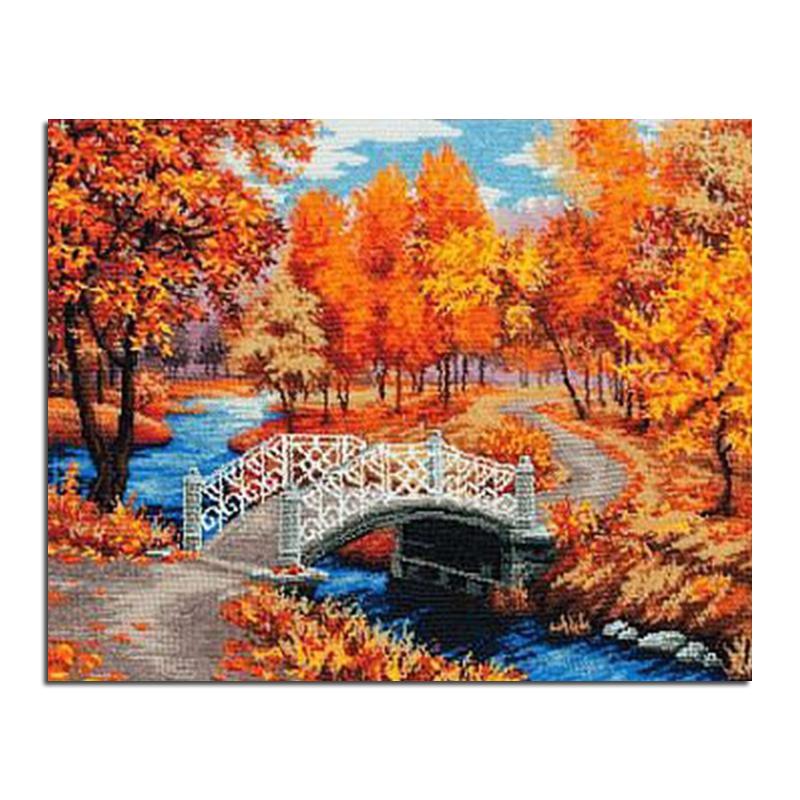 Autumn Bridge Painting Autumn Bridges 50x40 Diy
