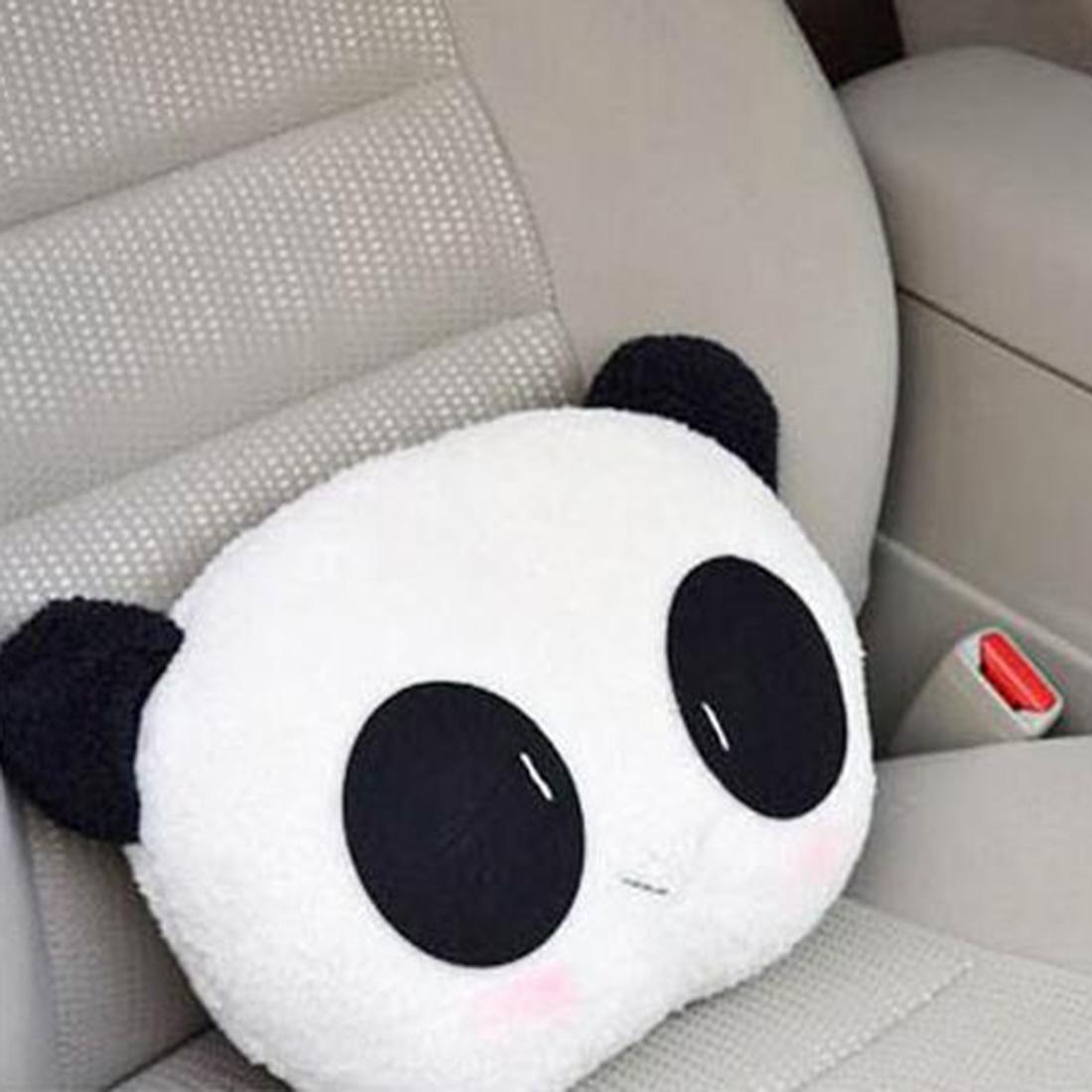 2016 Hot Sale Super Cute Panda Plush Auto Waist Cushion Seat Neck Rest Headrest Pillow High ...