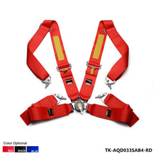 New 1 Seat  Red, Blue, Black 4 Point Racing Safety Seat Belt FIA 2020  /width:3 inches/4 Point TK-AQD033SAB4(China (Mainland))
