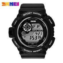 SKMEI 0939 Relógio Digital do Estilo Militar Do Exército Men Watch 50 M Data Calendário Resistente À Água LED Sports Relógios Relogio masculino