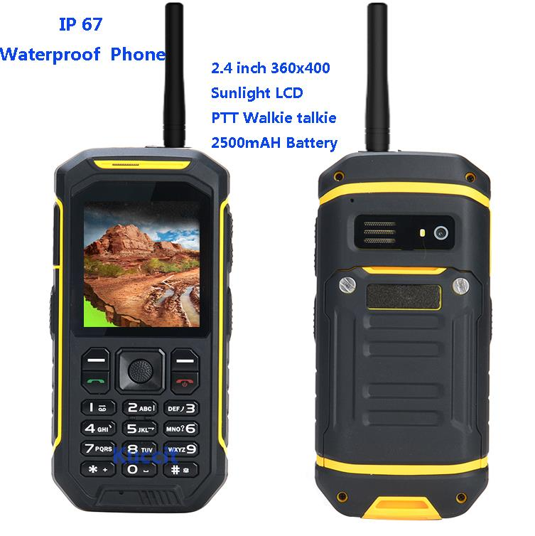 IP67 Rugged Waterproof shockproof phone Walkie Talkie Radio PTT X6 sunlight LCD GSM Senior old man cell phone Dual sim S6 sonim(China (Mainland))