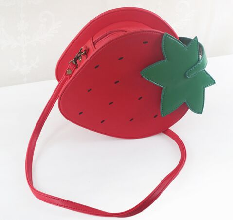 lolita favorite fruit pattern messenger bag lovely delicate sweet strawberry shape shoulder bag saucy ladiesbags