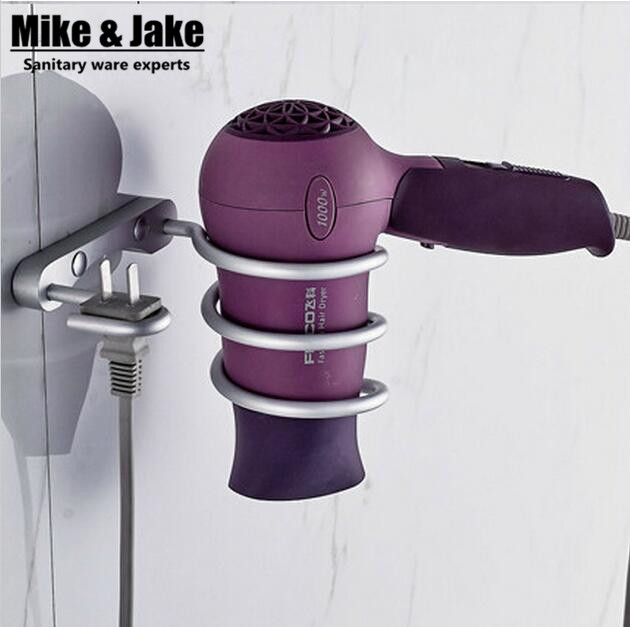 Bathroom shelf dryer rack with holder hair dryer rack Households Rack Hair Blow Dryer Holder Aluminum Shelf Bathroom Accessories(China (Mainland))