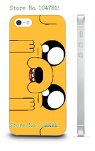 Mobile Phone Cases Retail 1pc Adventure time cartoon design Protective White Hard Case For Iphone 4 4S Free Shipping
