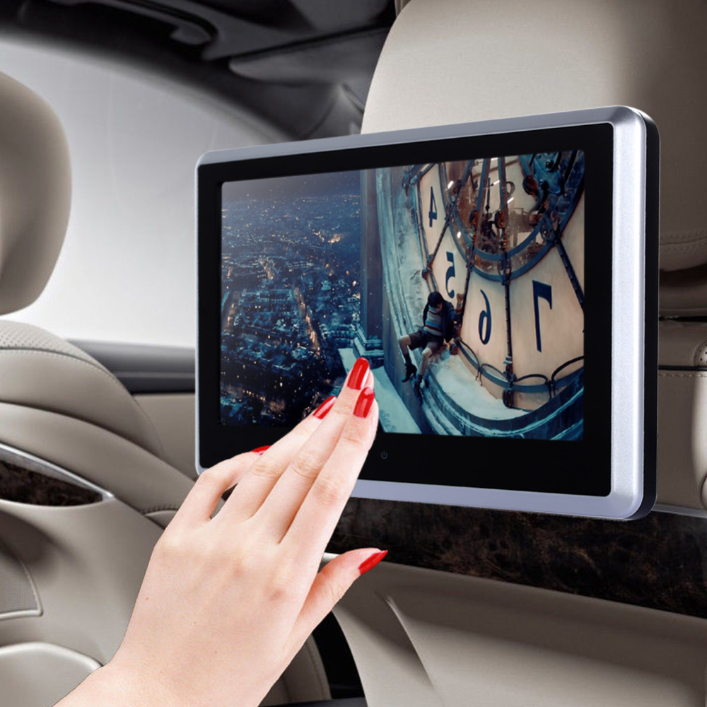 """10.1""""HD Digital TFT Touch Screen Car Headrest DVD Player 1024*600 Built-in FM Transmitter +Speakers+Remote Control Top Quality(China (Mainland))"""
