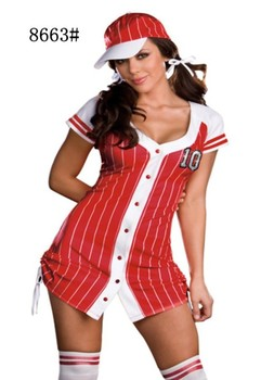 2013 New Sexy Womens Football Sports Referee Halloween Costume