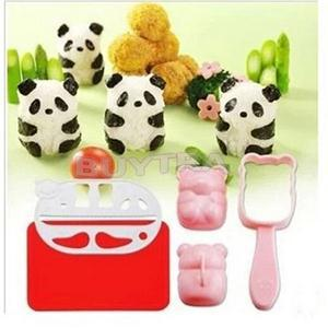 2015 Hot Sale Cute Panda Shape Rice Sandwich Bread Mold Cookies Sushi Mould Cooking DIY Tool(China (Mainland))