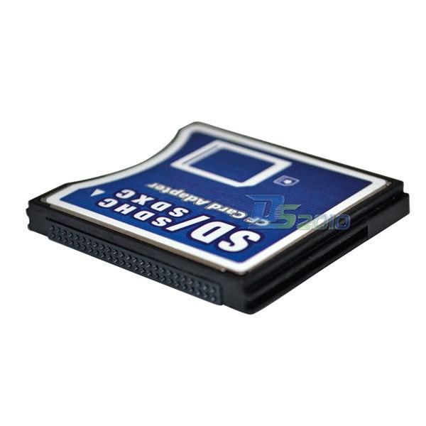 High Speed SDHC SD MMC SDHC SDXC to Compact Flash CF Type II Card Adapter(China (Mainland))