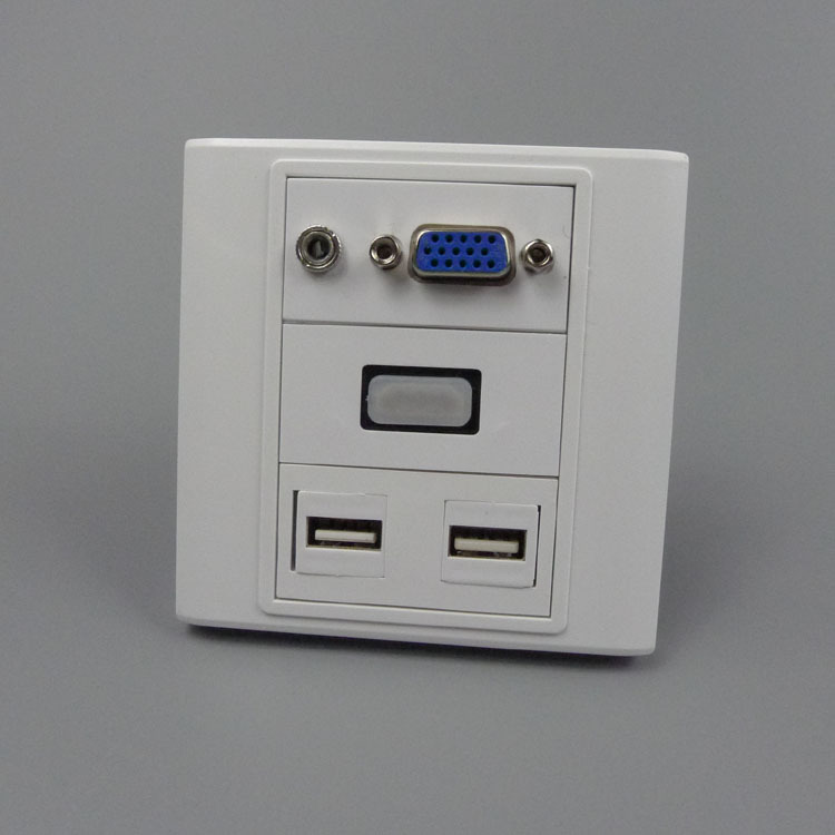 vga, hdmi 3.5mm audio, dual USB wall plate with back female to female connector(China (Mainland))