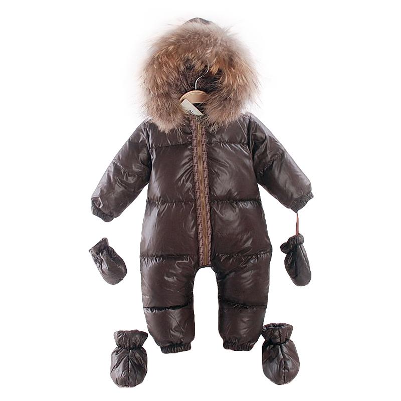 2017 fashion winter 90% duck down jacket kids boys outerwear & coats , 1-3 years old children jackets snow wear infant overcoat