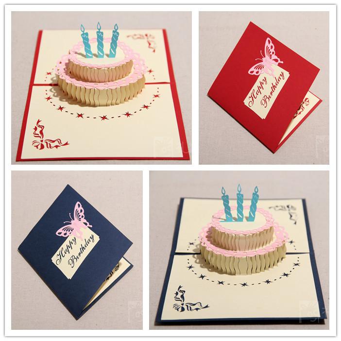 Открытка объемная торт