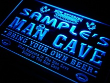 qa-tm Name Personalized Custom Man Cave Football Bar Beer Neon Sign Wholesale Dropshipping On/Off Switch 7 Colors DHL(China (Mainland))