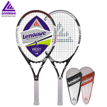 Carbon Aluminum Head Tennis Racket Lenwave Brand Men and women sports training Raquete 838#(China (Mainland))