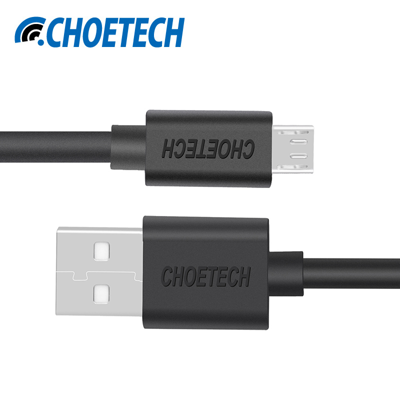 [Original Micro USB Cable]CHOETECH 5V 2.4A Micro USB 2.0 Charging Data Cable Length 3.3ft/1.0m for Smartphones and Tablets-Black(China (Mainland))