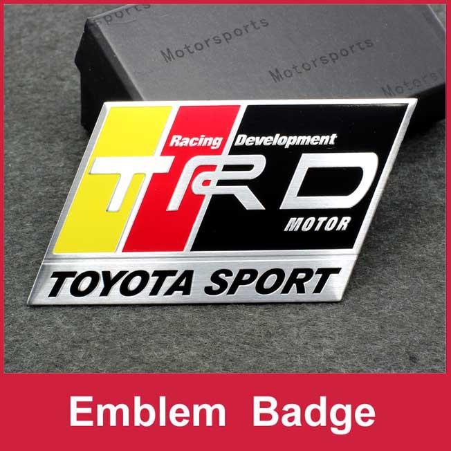 C101 Emblem Badge Decal Sticker TRD Sport Racing For TOYOTA Camry PRIUS REIZ COROLLA EZ PRODO VENZA HIGHLANDER RAV4(China (Mainland))