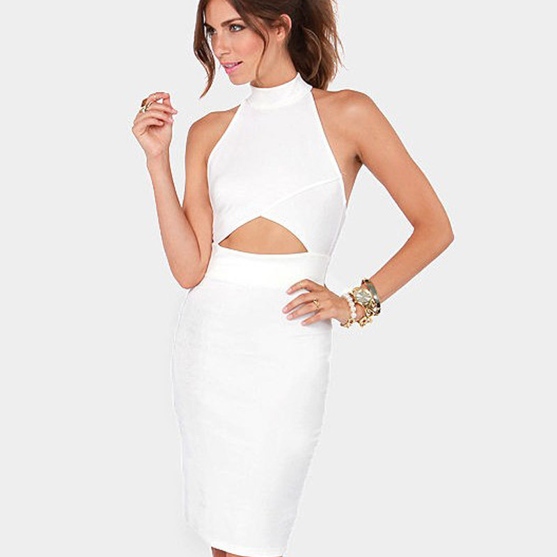 halter neck designer midi dress summer dress 2014 designer