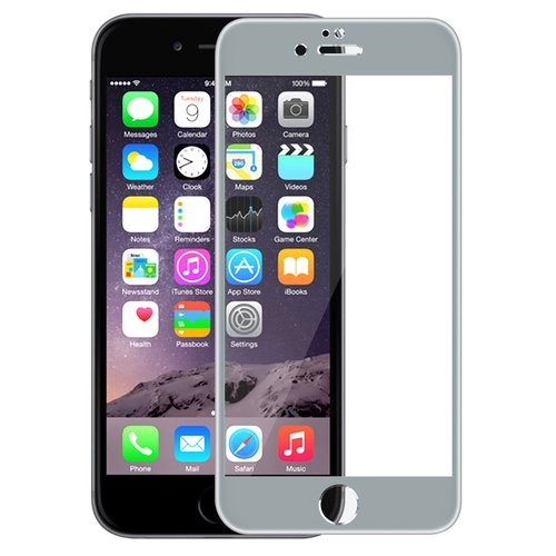 For Apple iphone 6 Plus Tempered Glass Screen Protector 5.5 inch Full Gray Frame Screen(China (Mainland))