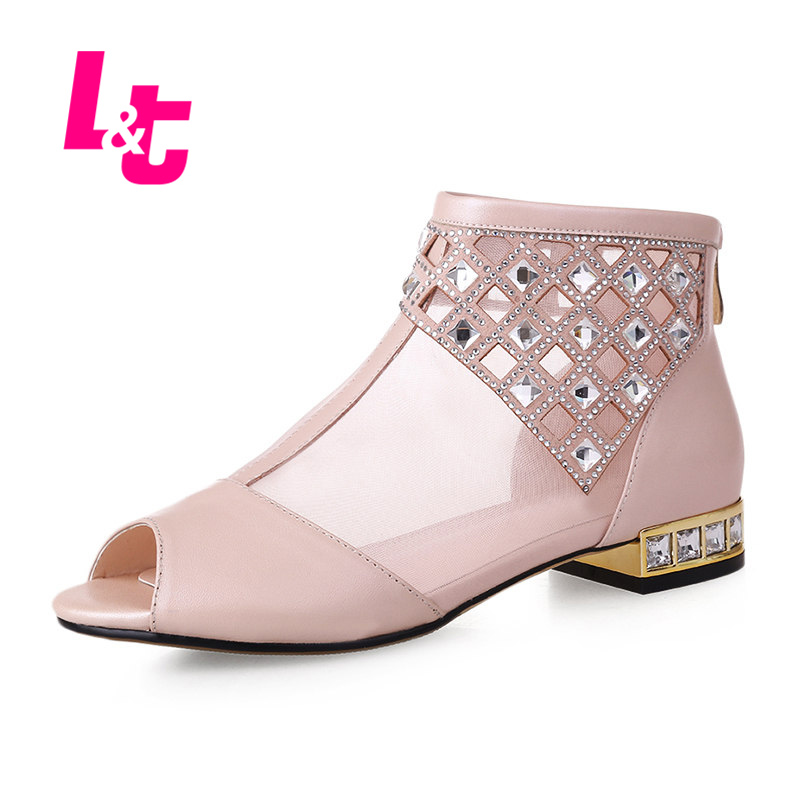 Elegant Size 34 43 Women Shoes Fashion Comfortable 2015 Summer Ankle Boots