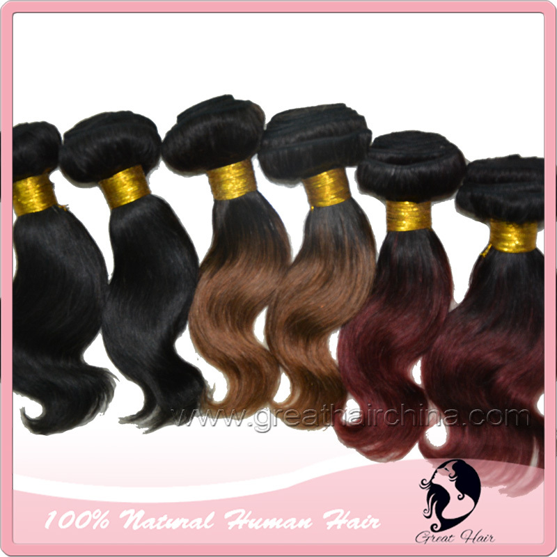 Queen Hair Products 8 Remi Ombre Hair Extension, 100 Grams/ Piece Wavy Real Natural Machine Weaving Hair, Free Shipping<br><br>Aliexpress