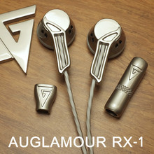 2016 Newest AUGLAMOUR RX-1 In Ear Earphone Flat Head Plug High Quality Full Metal Earbud Headset Free Shipping Support wholesale(China (Mainland))