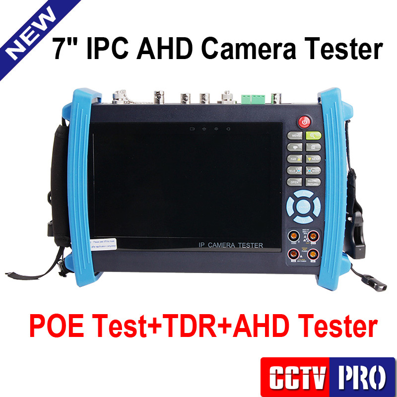 CCTV Tester Monitor 1080P IP & AHD & Analog Camera Testing Cable Scan Onvif IP PTZ POE Output Digital Multi-Meter+TDR Cable Test(China (Mainland))