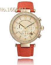 2015 ventas calientes de la marca moda de lujo oro rosa Casual mujeres se visten de cuarzo de pulsera Relogio Feminino
