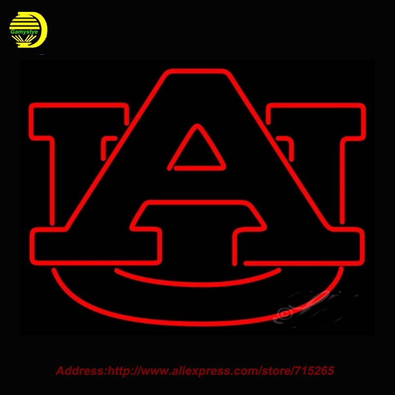Neon Sign Auburn Tigers NCAA Glass Tube Neon Handcrafted Recreation Room Iconic Sign Affiche indoor Arcade sports 24x18(China (Mainland))