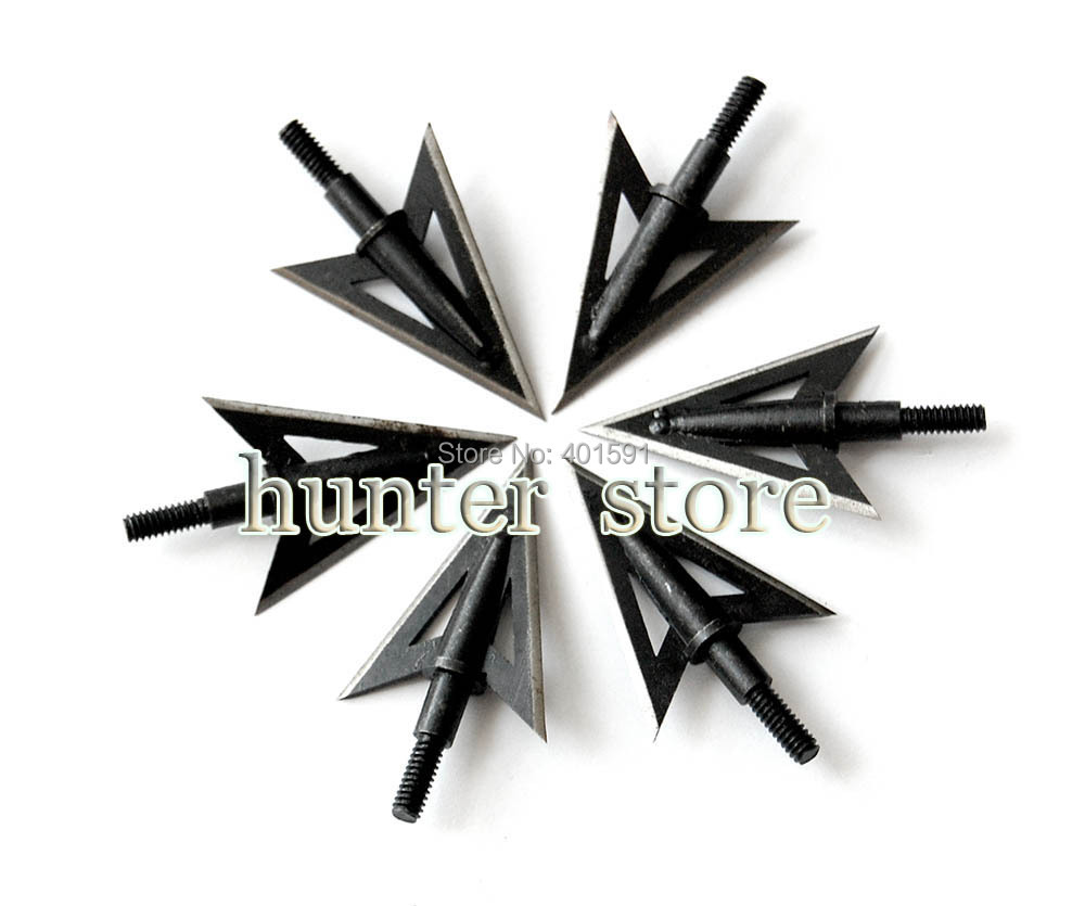 12pcs aftershock razor hunter hunting bow arrow broadhead 2 fixed blades 100 grain for compound bow