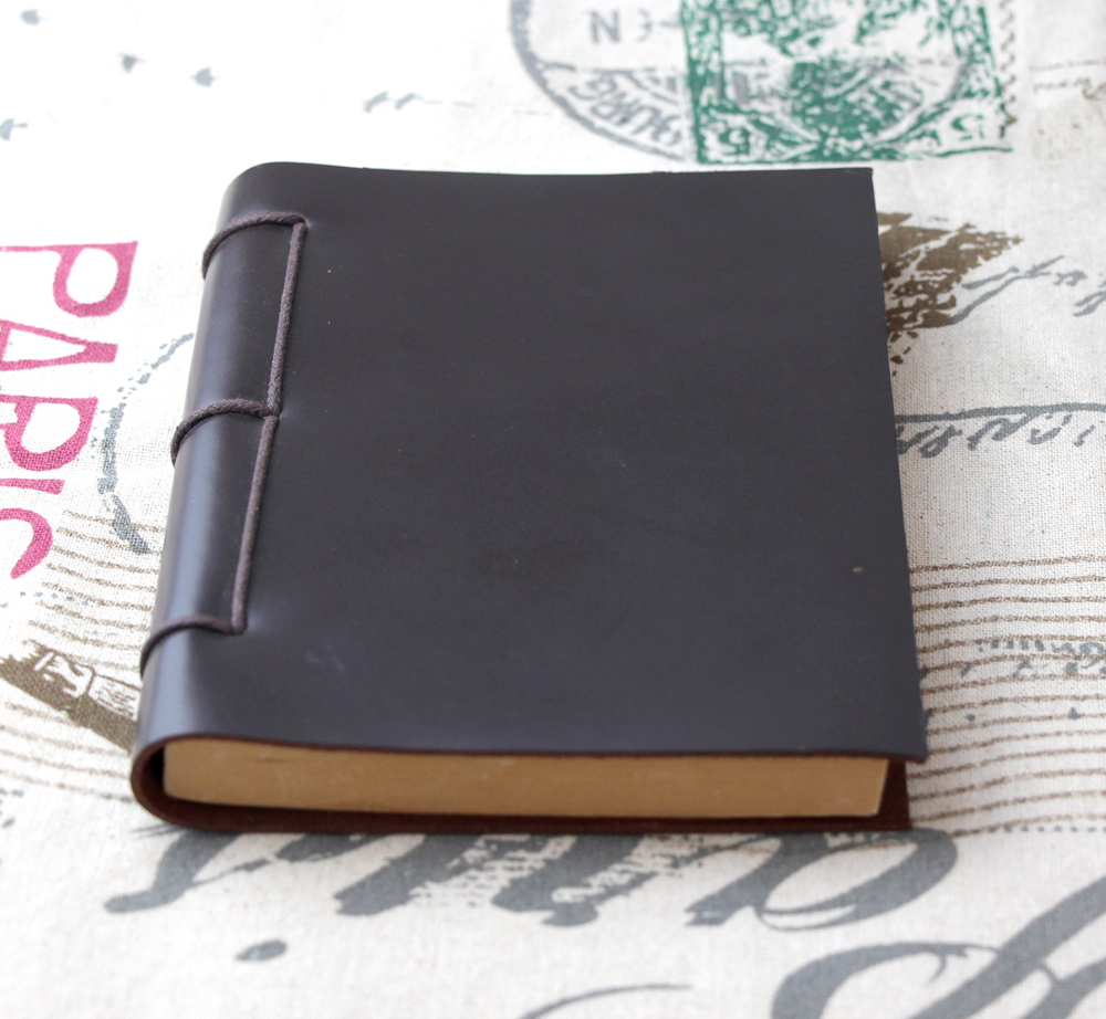 Origin Design handmade thick Diaries Journals notebook genuine leather brown A5 D0522(China (Mainland))