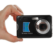 18MP HD Mini Compact Digital Camera 2.7 inch COMS Video Recoding Cam 8x Zoom Photo Camera Frame Cam Night Daylight Auto(China (Mainland))
