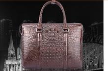 100% genuine crocodile leather skin briefcase men laptop bag luxury aliigator leather skin men business bag(China (Mainland))