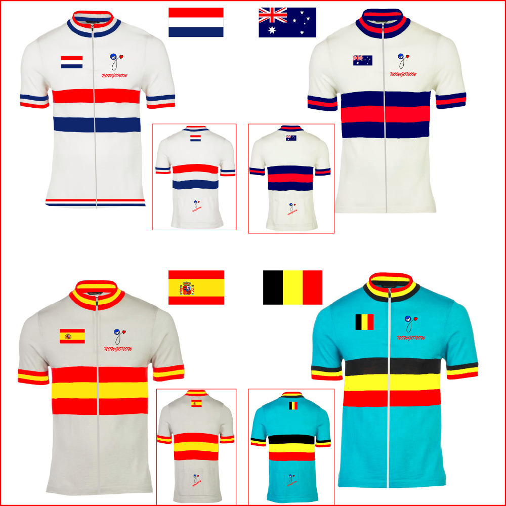Special offer 2016 cycling jersey bike wear clothing Holland Belgium Australia Spain Netherlands National flag pro team nowgonow(China (Mainland))