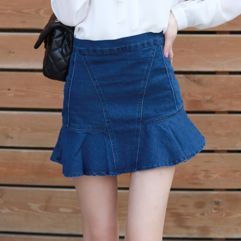 Awesome  WomenDenimSkirtFashionHoleShortJeansSkirtsWomenShortDress
