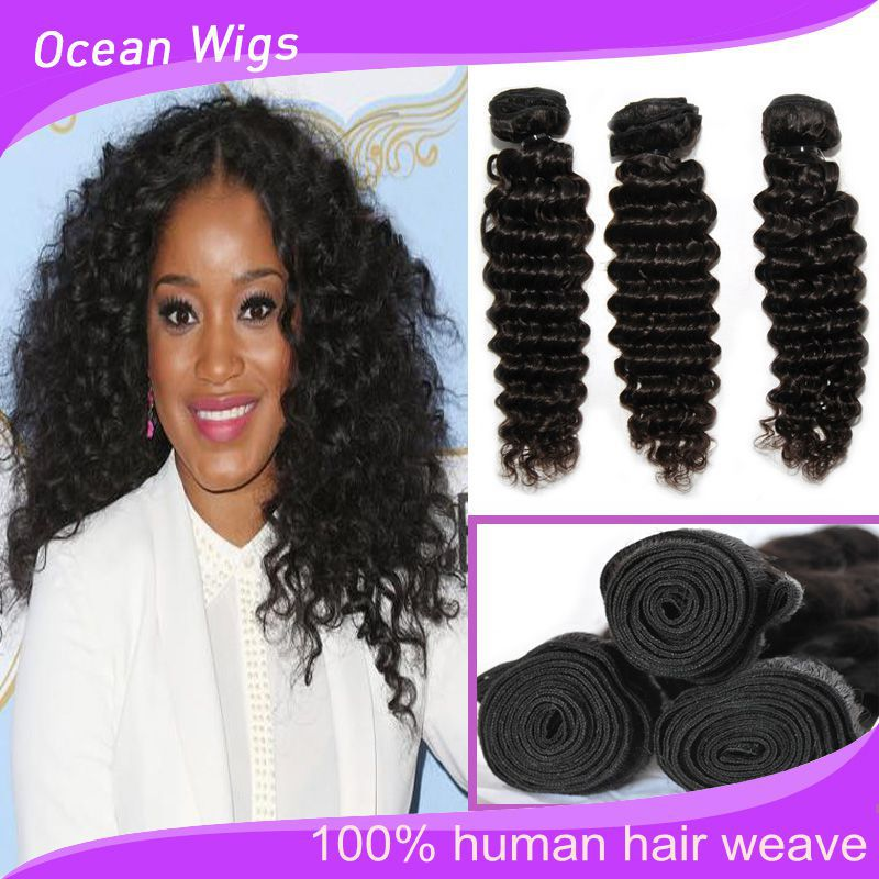 Crochet Hair Deep Wave : Crochet-Braid-6A-Brazilian-Hair-Deep-Wave-Hair-Weave-Wavy-100 ...