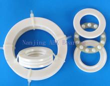 Free shipping 51104 ZrO2 full ceramic thrust ball bearing 8104 20x35x10 mm no magnetic bearing(China (Mainland))