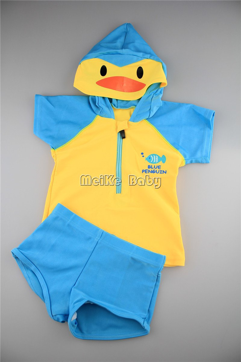 design cute cartoon duck baby girl bikini swimwear beachwear/kid's swimwear/fashion 5set/lot