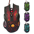 Professional Wired Gaming Mouse 6 Button 3200 DPI LED Optical USB Gamer Computer Mouse Mice Cable