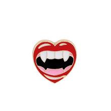 12 Gaya Wanita Enamel Bros OMG Tanda Seru Bibir Merah Anggur Merah Cup Cinta Bros Hat Kerah Pin Lencana pria Perhiasan(China)