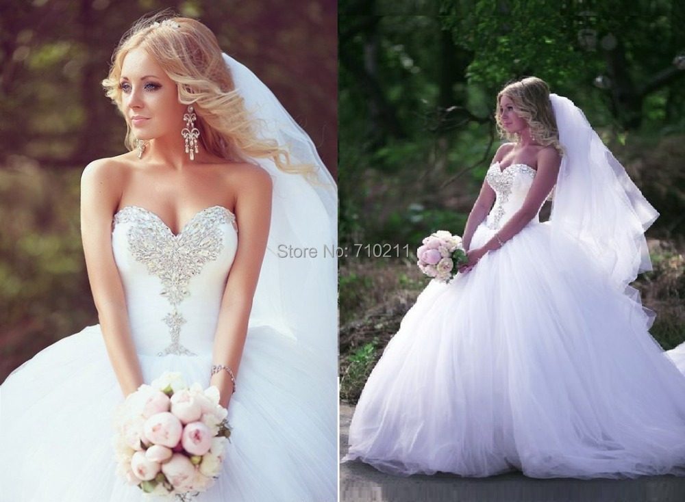 WD089 Plus Size Wedding Dress 2015 Strapless Sweetheart Neck Beads Lace Up Ba